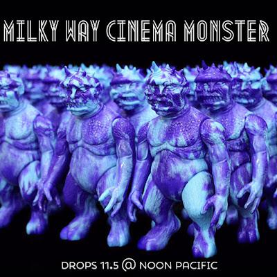 Cinema Monster Milky Way Edition Marbled Vinyl Figure by Splurrt