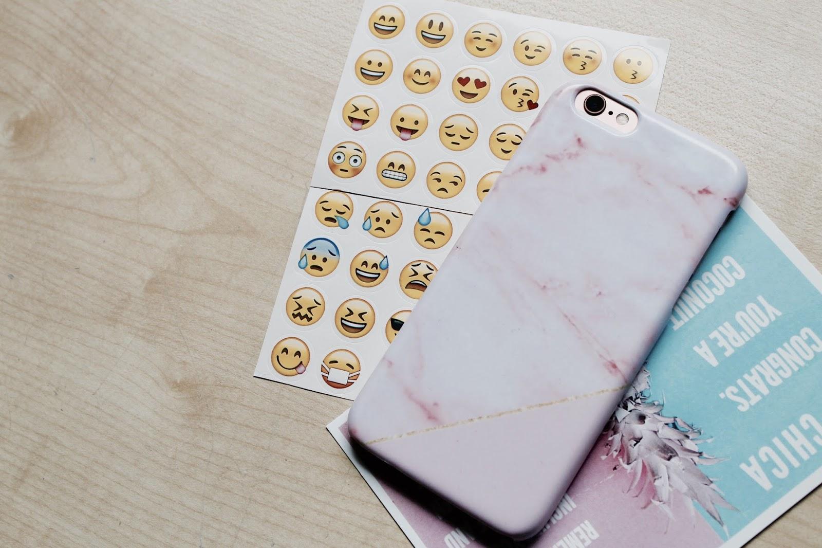 Coconut Lane Phone Case & Emoji Stickers