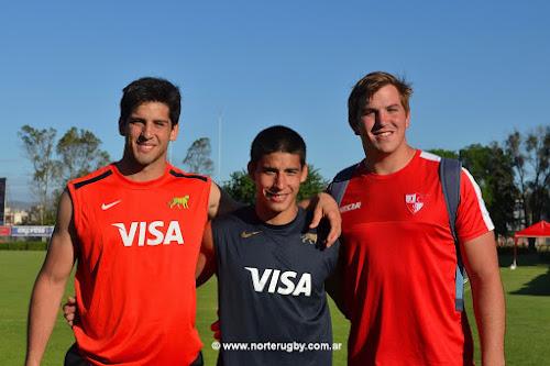 Michelena, Morales y Morosini entrenaron con Los Pumas