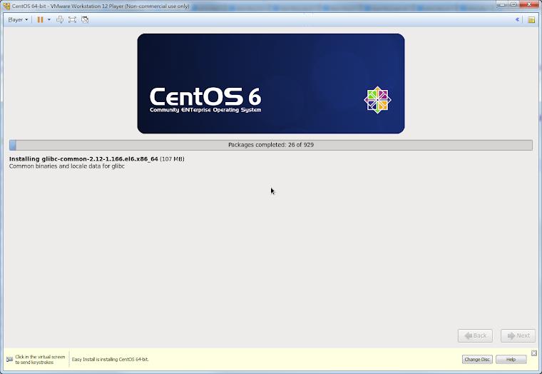 CentOS 安裝畫面