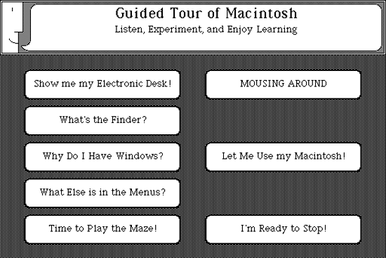 Macintosh System 1, guide tour - A