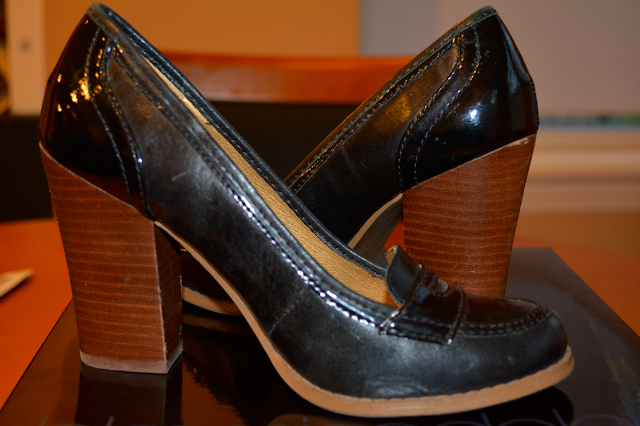 seychelles wood heel oxford shoes