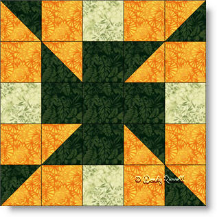 Z CROSS quilt block image © Wendy Russell