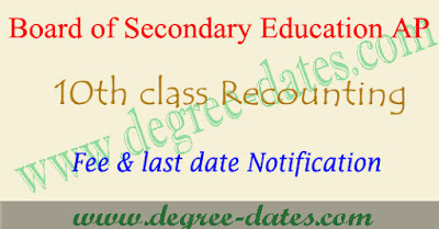 AP ssc recounting application form 2017, ap 10th revaluation fee last date details