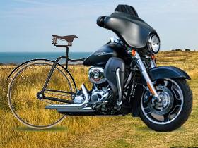 自転車+バイク(素材使用)