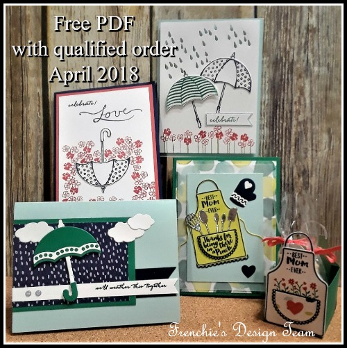 Frenchie Team Customer appreciation April 2018, April shower bring May flower, Stampin'Up!,