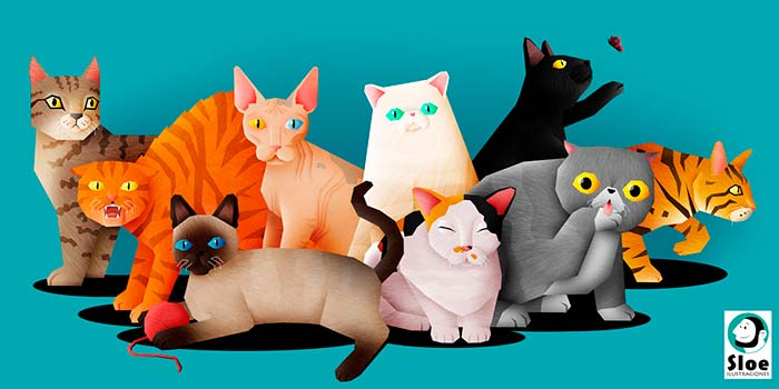 Ilustración, Cats de Salvador Ortega
