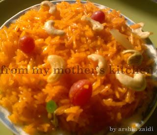 sweet rice , rice , meethe chawal, muslim zarda - biryani