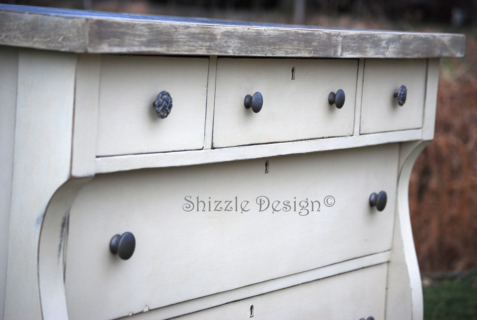 Shizzle Design Empire Dresser Refinished In Old White Chalk Paint