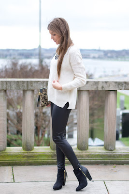 How to Style Faux Leather Leggings - Chasing Cinderella