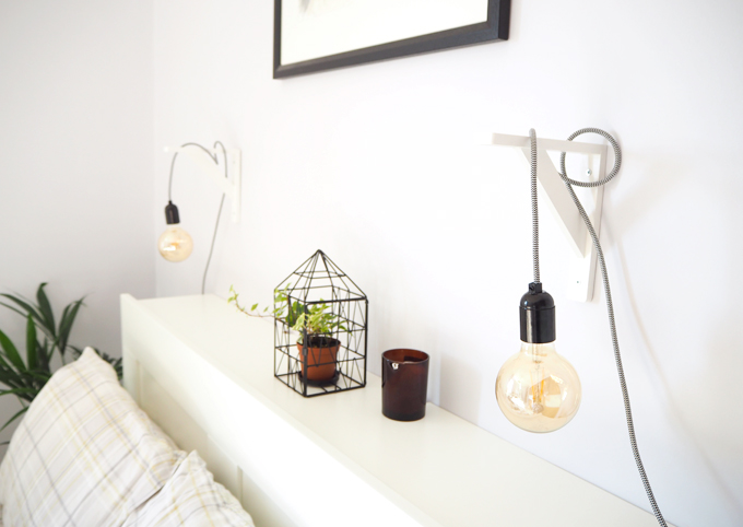 I Have Recently Given Our Bedroom A Bit Of An Update With These Hanging Pendant Bedside Lamps