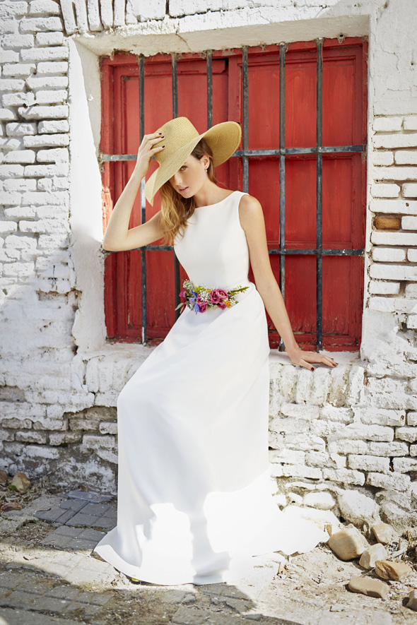 Vestidos de novia con cinturon de flores