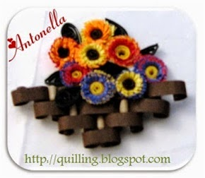Free Quilled Quilling Autumn Flower Basket Pattern