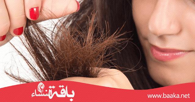 كيف اعالج تلف وحروق أطراف الشعر
