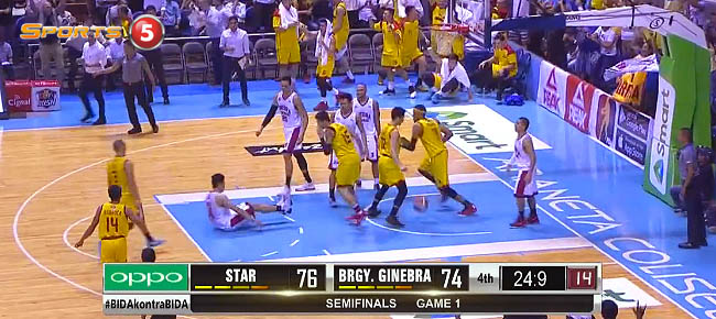 Paul Lee with the CLUTCH Basket vs. Ginebra in Game 1 (VIDEO)