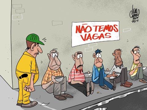Resultado de imagem para desemprego charge
