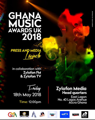 Ghana Music Awards UK To Be Launched In Ghana On May 18th
