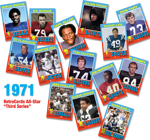 1971 Topps Football All-Stars RetroCards custom cards that never were