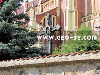 Костел Троицкий в Гервятах. Резной крест