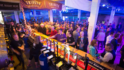 A crowd gathers for 200 ales at St Austell Beer Festival