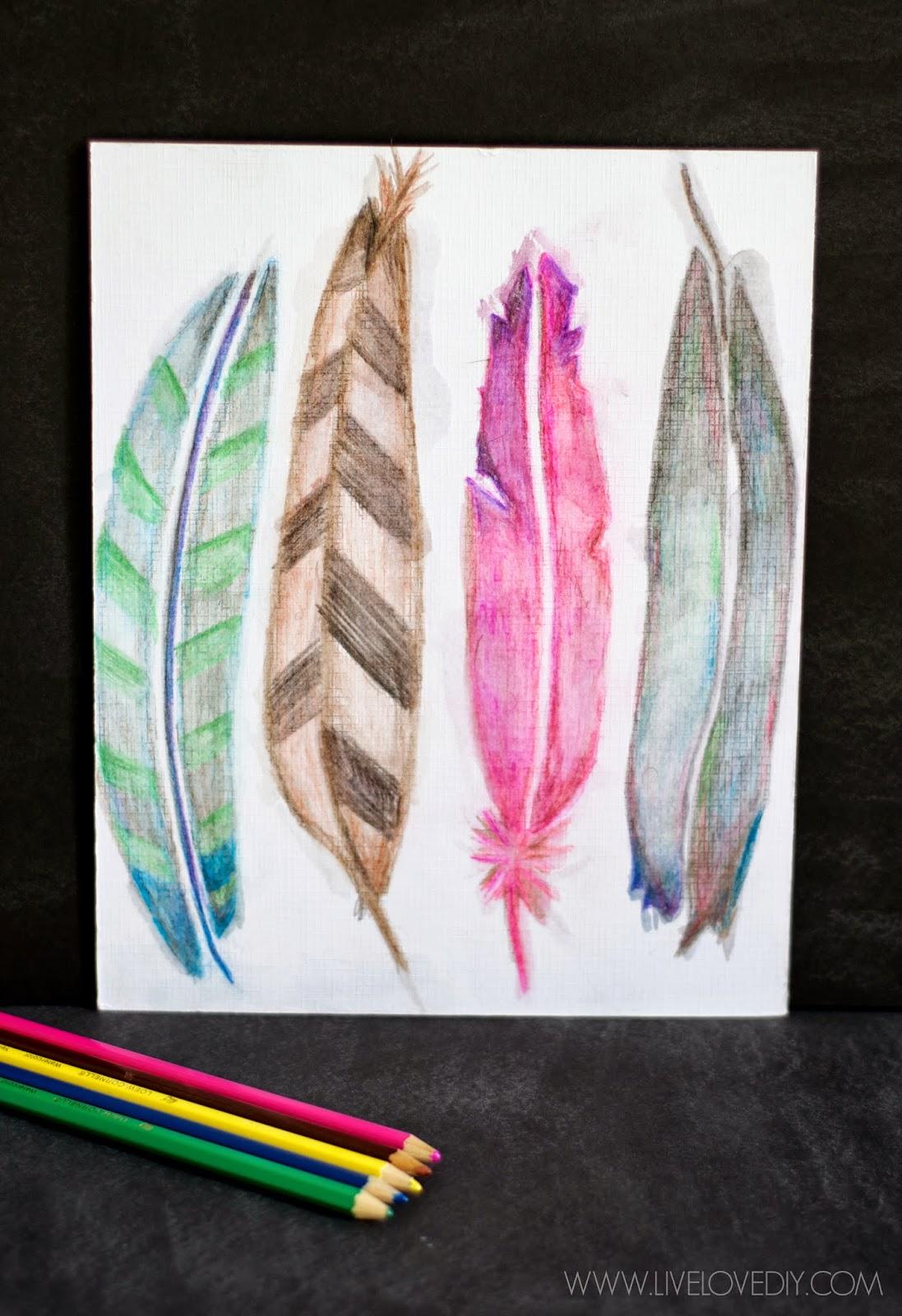 livelovediy how to use watercolor pencils aka my favorite new way to make art