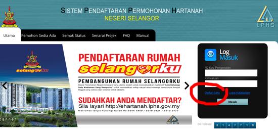 Pendaftaran Online Rumah Selangorku