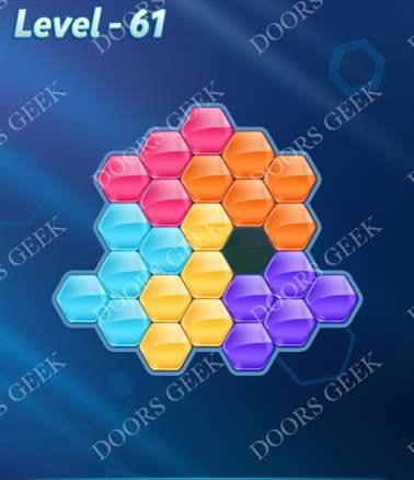 Block! Hexa Puzzle [6 Mania] Level 61 Solution, Cheats, Walkthrough for android, iphone, ipad, ipod
