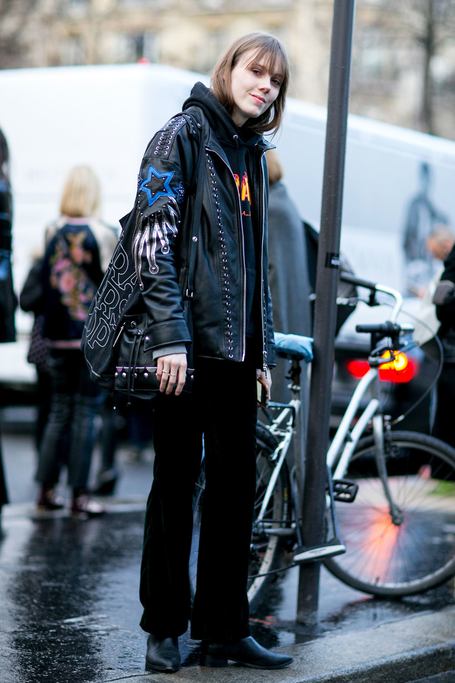 Street Style: Kiki Willems' Retro Rocker Look