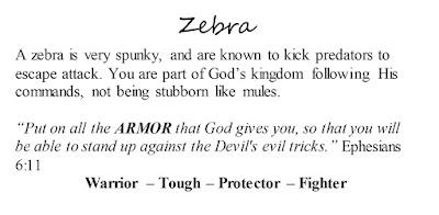 Ephesians 6:11 Zebra