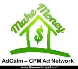 AdCalm – CPM Ad Network