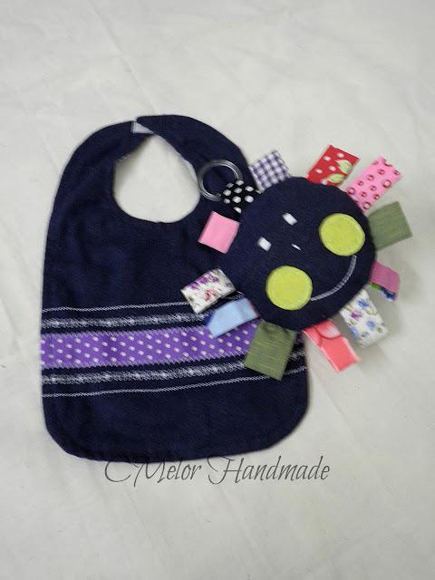 handmade baby bib