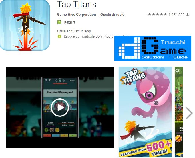 Soluzioni Tap Titans livello 201 202 203 204 205 206 207 208 209 210 | Trucchi e  Walkthrough level