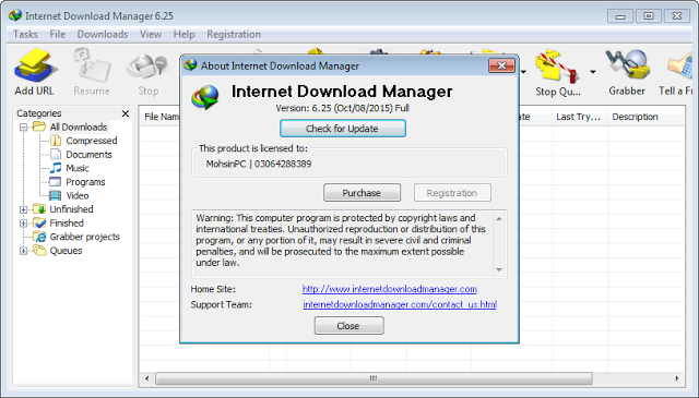 internet download manager v6 25 build 3 crack serial