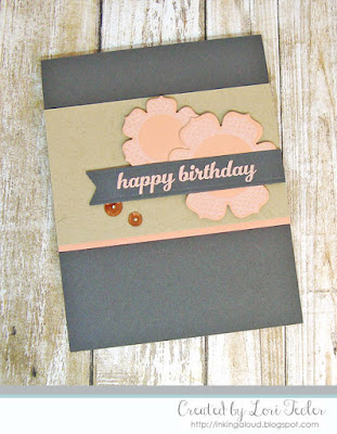 Rose Gold Birthday Blooms card-designed by Lori Tecler/Inking Aloud-stamps and dies from Papertrey Ink