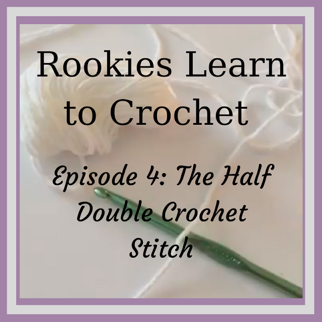 Rookies Learn Series – The Half Double Crochet (Lesson 4) - www.craftaboo.com