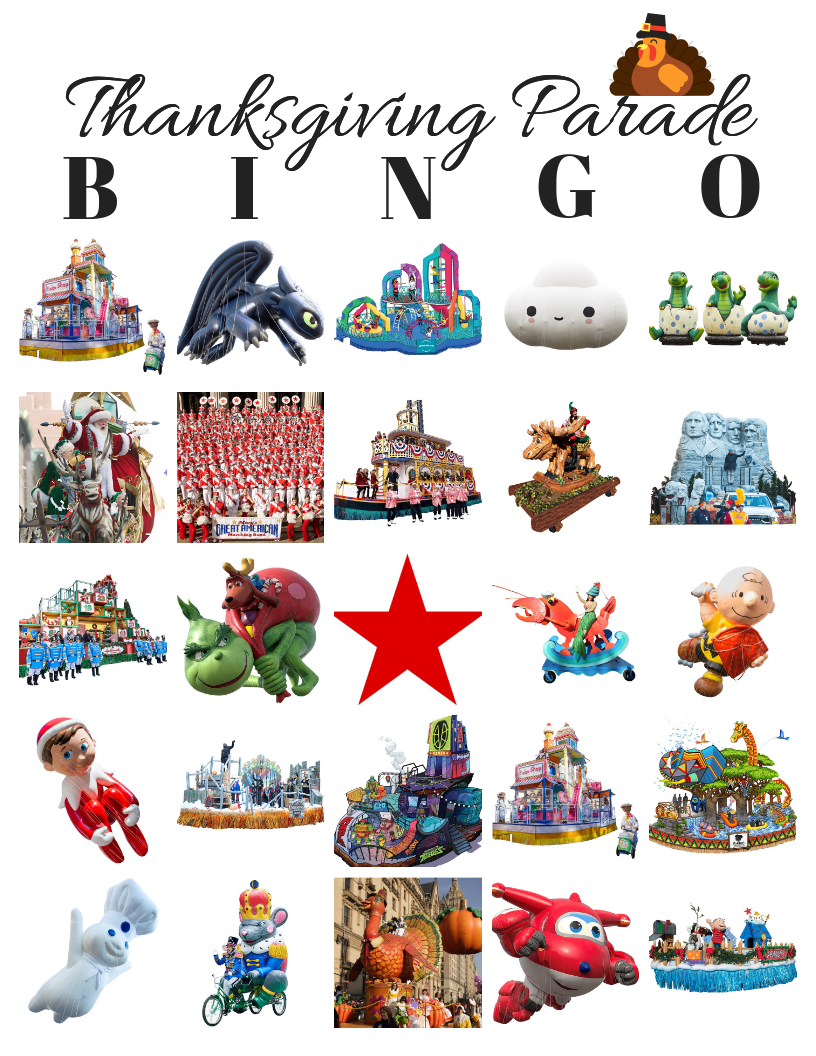 #MacysParade Thanksgiving BINGO!