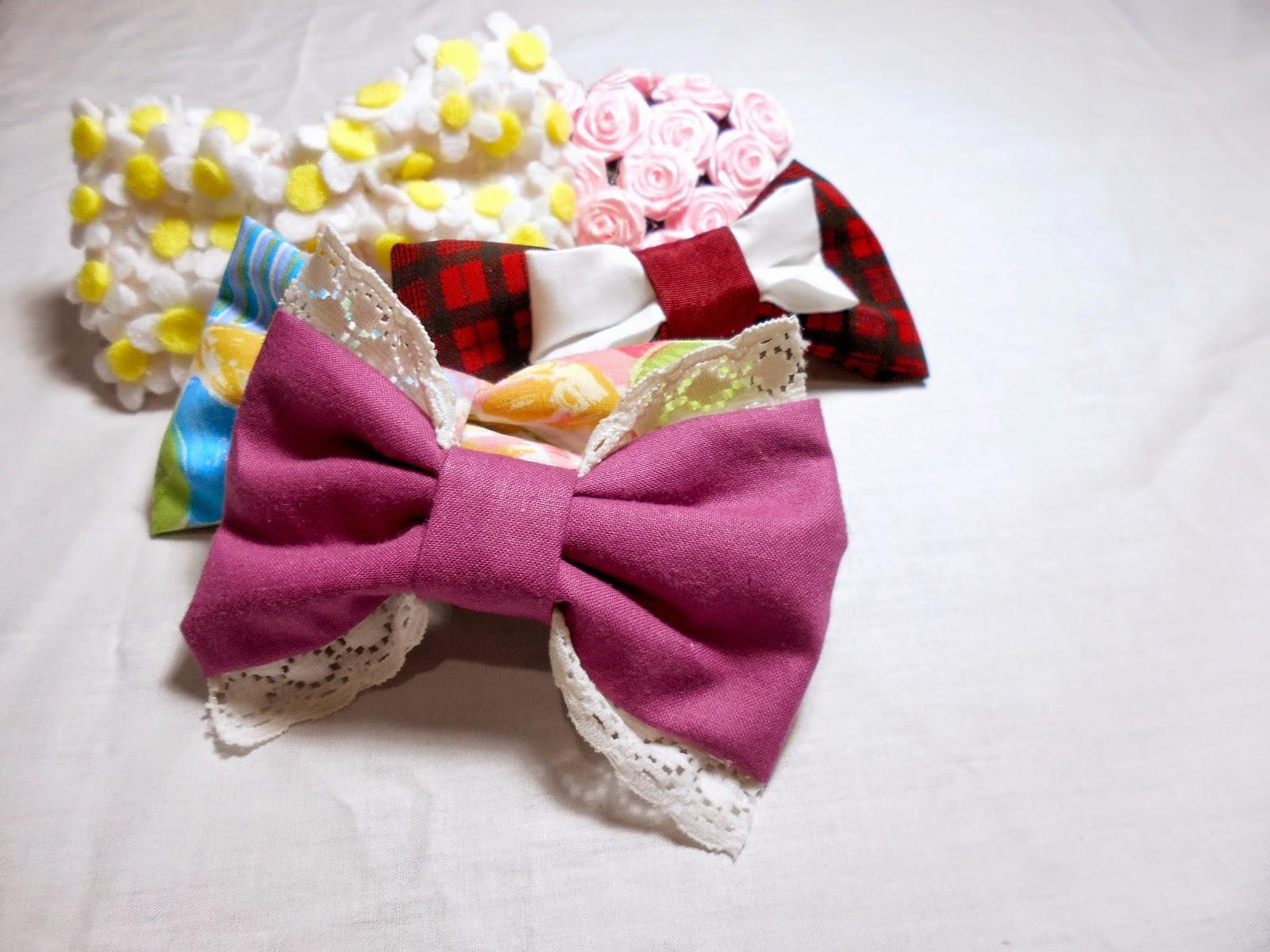 DIY hair bows - 5 ideas!