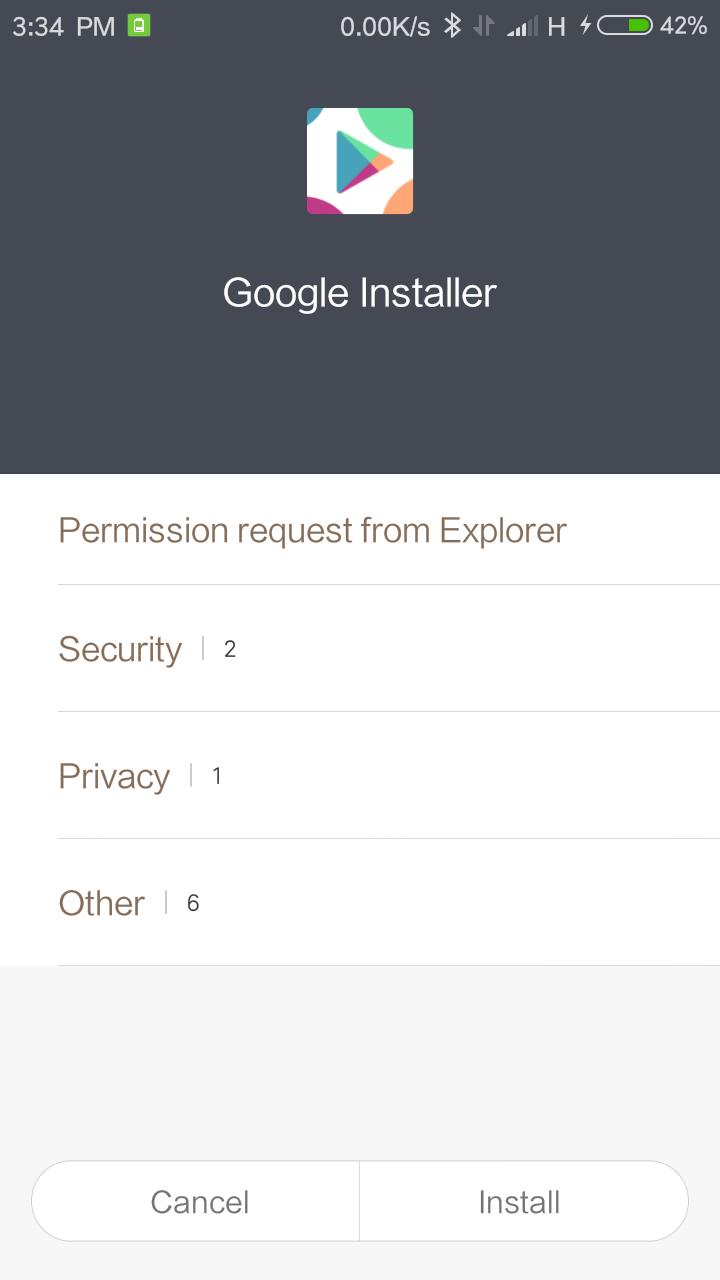 menginstal layanan google di xiaomi - instal