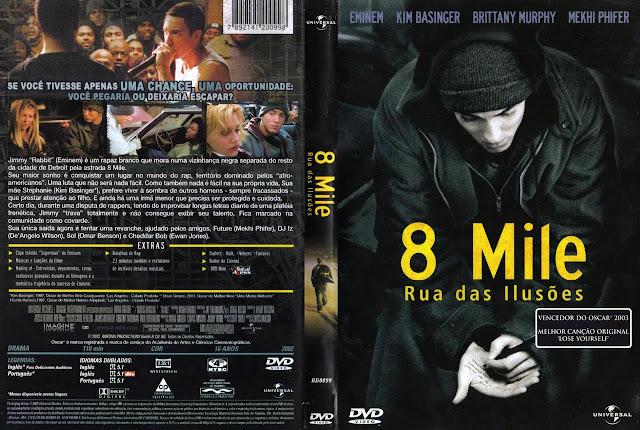 Capa DVD 8 Mile Rua das Ilusões