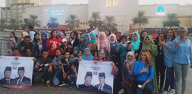 Berkumpul Di Dubai, Relawan Doakan Kemenangan Prabowo-Sandi