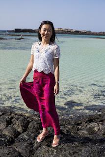 maxi skirt rayon batik