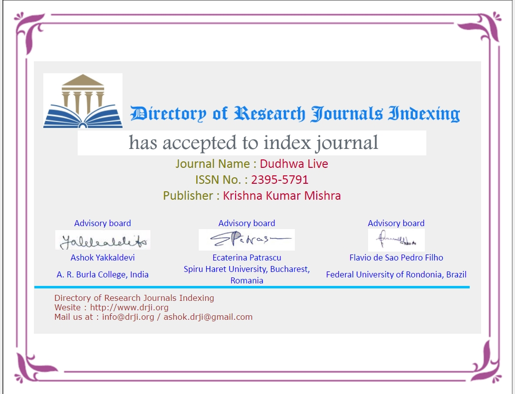 Dudhwa Live in International Indexed Journals