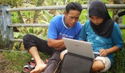 Jaringan internet di pelosok desa