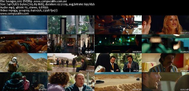Salvajes DVDRip Español Latino Película 2012