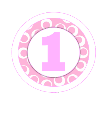 Toppers o Etiquetas de Minnie Primer Año  para imprimir gratis.