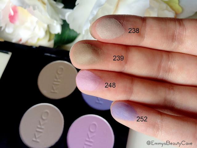 KIKO Infinity Eyeshadows 238 239 248 252