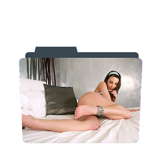 Preview of cute girl, sexy ass, pose, photos, folder icon