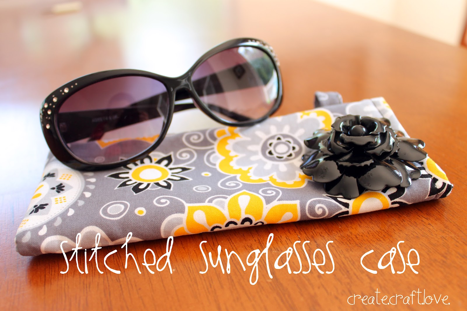 Diy Fat Quarter Projects Stitched Sunglasses Case