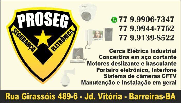 Atendendo Barreiras e Região há três anos com credibilidade, Performance e  ótimo atendimento a PROSEG Segurança Eletrônica vem se consolidando no  mercado ... ed2690b80a