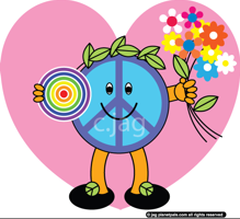Peaceful loves Planetpals valentine crafts cards for everyone